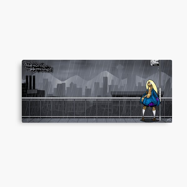 Various Happenings - Cass at Alki Point Canvas Print