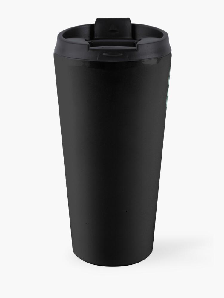 Alternate view of Cat full of coffee  Travel Mug