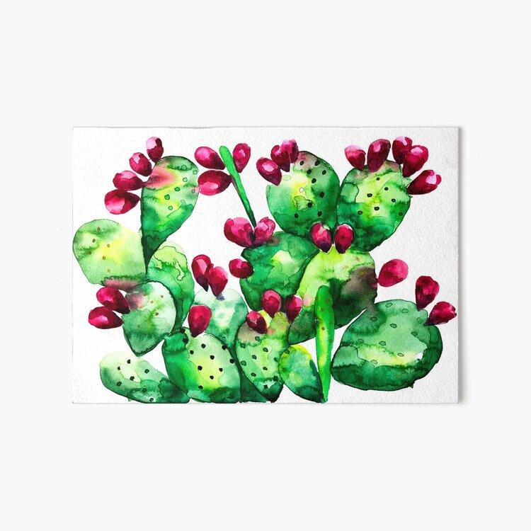 Prickly, Prickly Pear Cactus Art Board Print