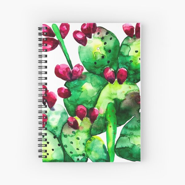 Prickly, Prickly Pear Cactus Spiral Notebook
