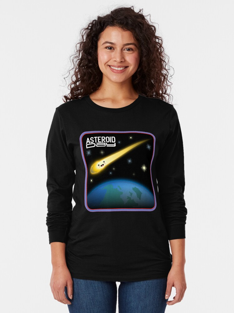 Alternate view of Asteroid Day Long Sleeve T-Shirt