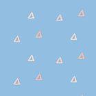 Einfache Formen in sanftem Blau x Pink von Taylorly