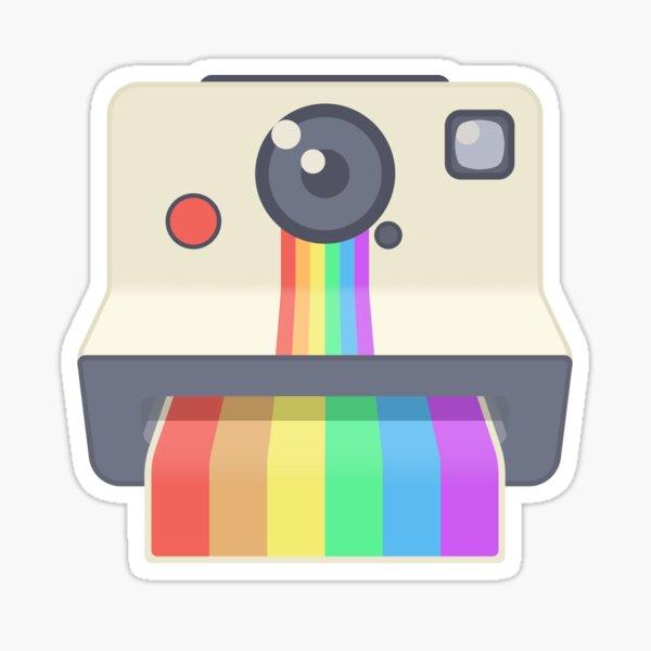 LGBT Rainbow Polaroid-Like Camera Sticker