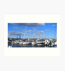 Hobart Yachts Art Print
