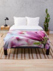 Magenta Magnolia Throw Blanket