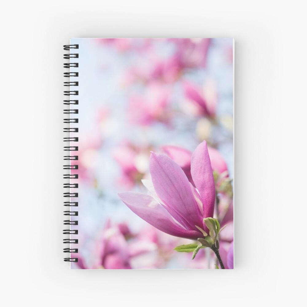 Magenta Magnolia Spiral Notebook
