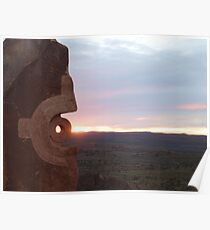 Sunset at the sculptures Poster
