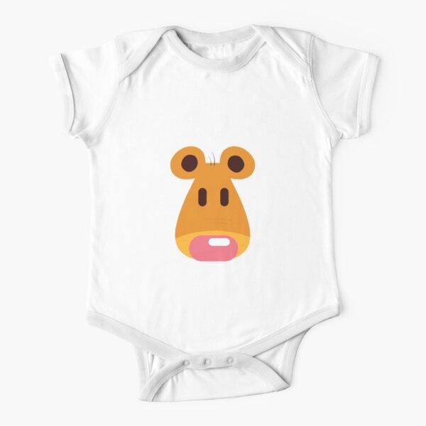 Hannah's Bear design Short Sleeve Baby One-Piece