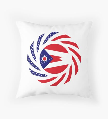 Ohio Murican Patriot Flag Series Throw Pillow