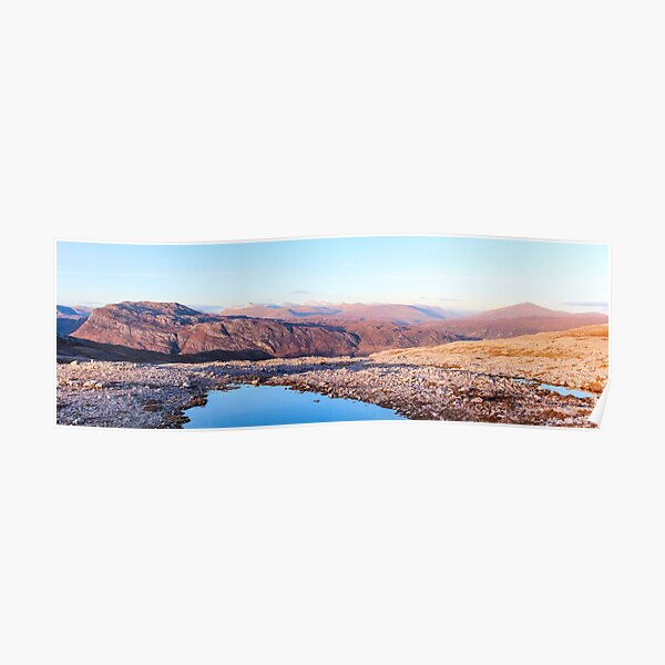 Panorama Over Kinlochewe Poster