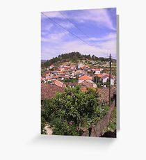 Vale das Fontes, as seen from Rua dos Enxertos Greeting Card
