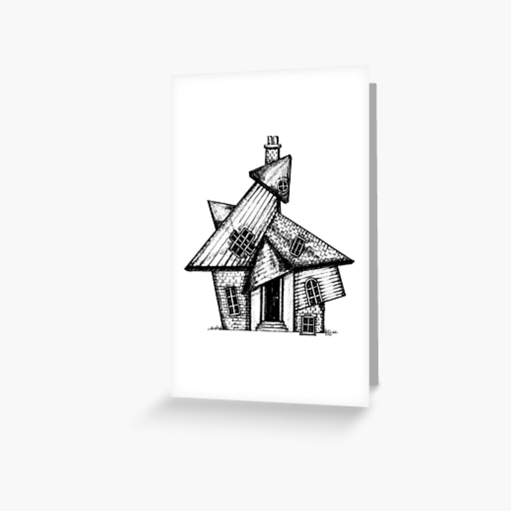 Higgledy-Piggledy House Greeting Card (Blank) Greeting Card