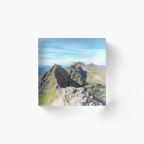 Summer on the Am Fasarinen Pinnacles, Liathach Acrylic Block