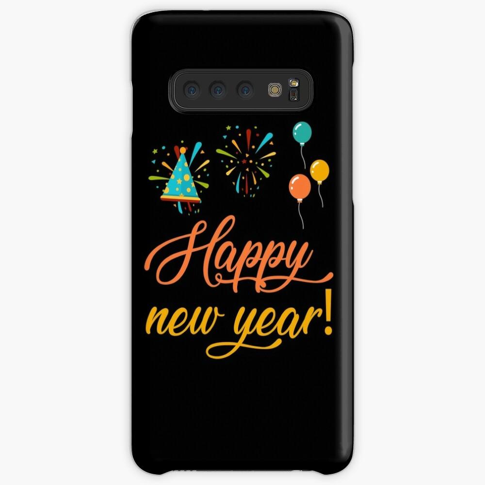 Happy New Year Hülle & Klebefolie für Samsung Galaxy
