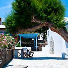 A TREE IN THE CYCLADES by vaggypar