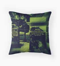 Two very old Gravestones Throw Pillow