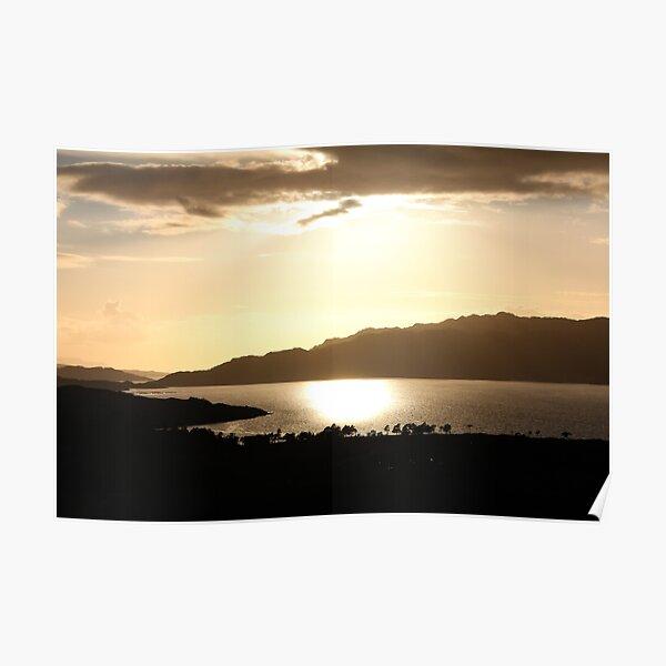 Upper Loch Torridon Evening Light Poster
