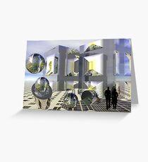 Sci-fi town Greeting Card