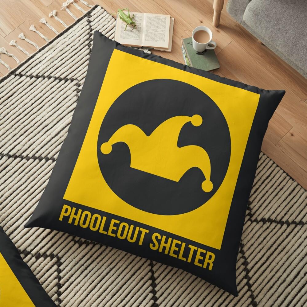 PhooleOut Shelter Sign by Anna Haim Floor Pillow