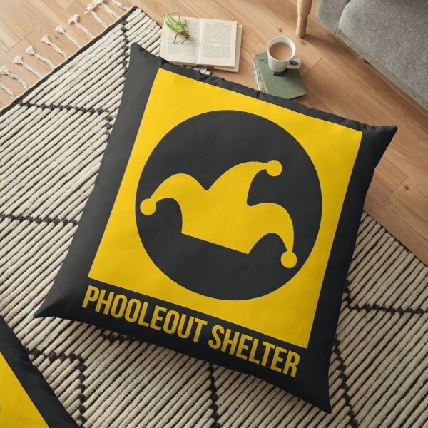 PhooleOut Shelter Sign by Anna Haim Floor Pillow