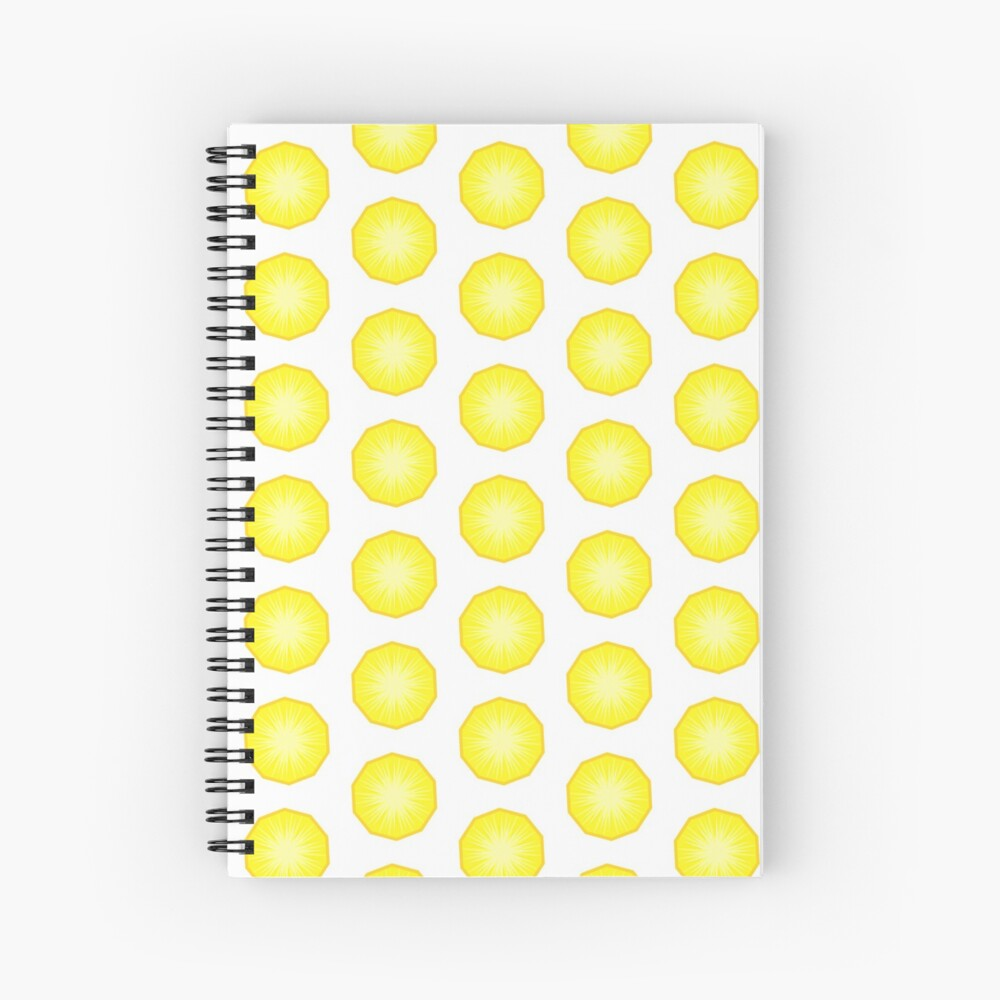 Pineapple Fruit Slice Spiral Notebook