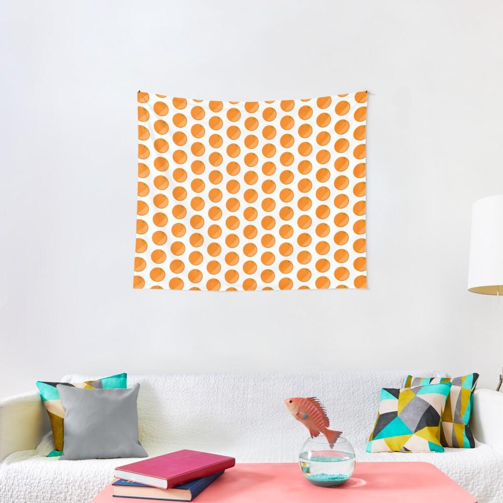 Orange Fruit Tapestry