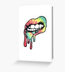 Tie Dye Lips Greeting Card