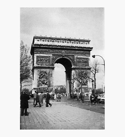Arc de Triomphe - Paris 1960 Photographic Print