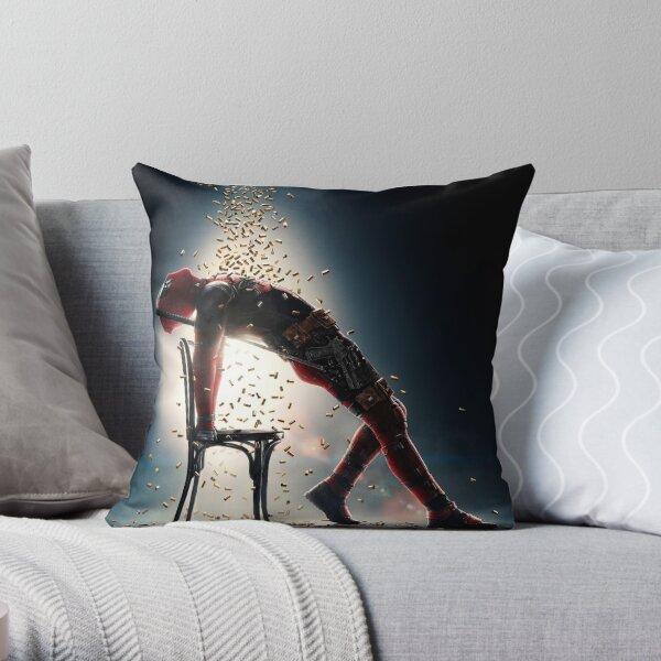 deadpool bullet Throw Pillow