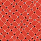Dots and Lines - Red - Seamless Repeating Pattern in Red, Navy, and Beige by Autumn Musick