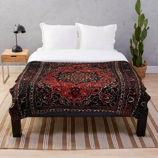 Persian carpet look in rose  Throw Blanket