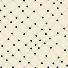 Dots and Lines - Seamless Repeating Pattern in Navy and Beige by Autumn Musick