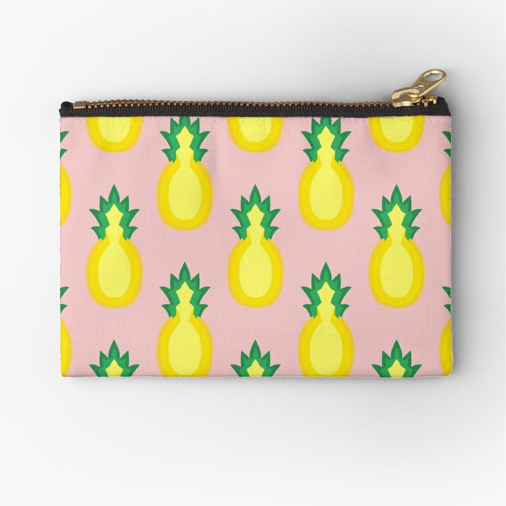 Pineapple Fruit Halved Zipper Pouch