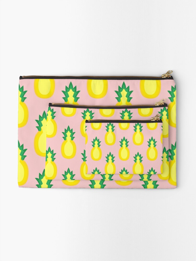 Alternate view of Pineapple Fruit Halved Zipper Pouch