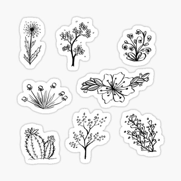 Pegatinas de dibujo floral Pegatina