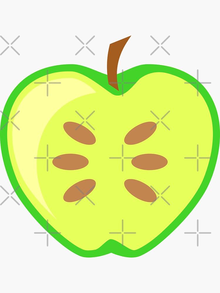 Green Apple Fruit Halved by THPStock