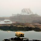 Boat, House, Fog, Stonington, Maine by fauselr