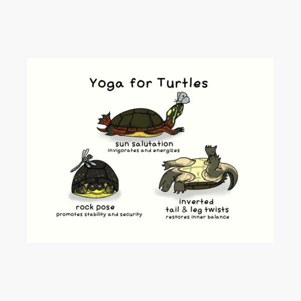 Yoga for turtles Art Print