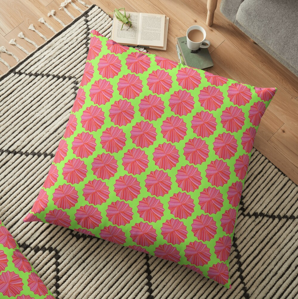 Electric Field Art III Repeating  Floor Pillow