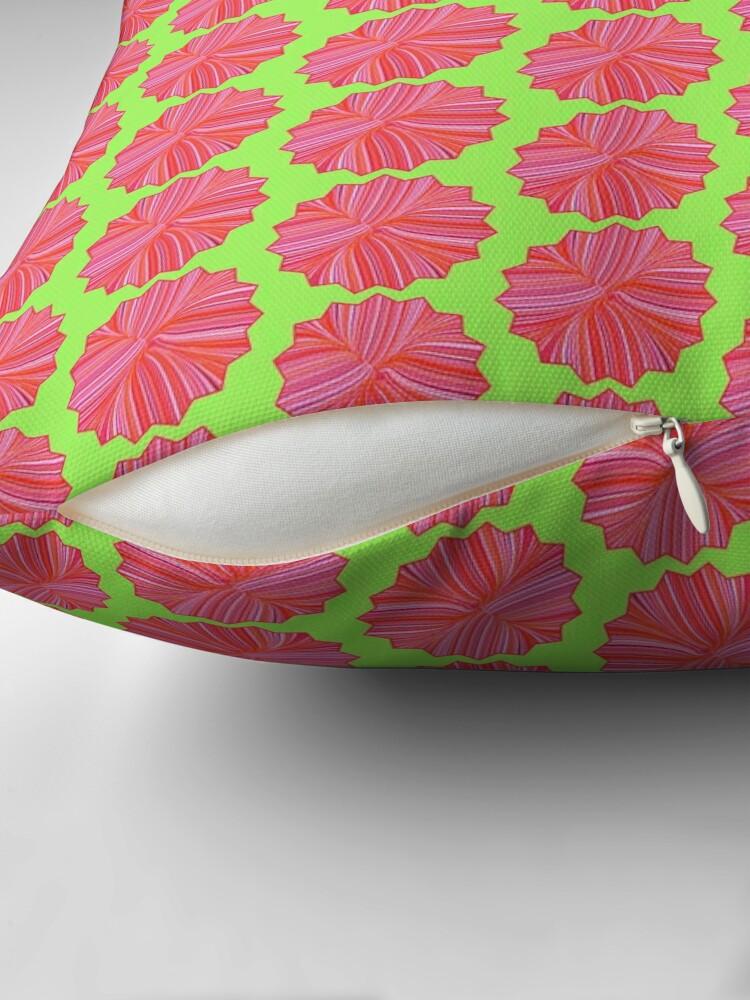 Alternate view of Electric Field Art III Repeating  Floor Pillow