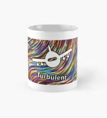 Turbulent Airplane Streaming Lines Color Classic Mug