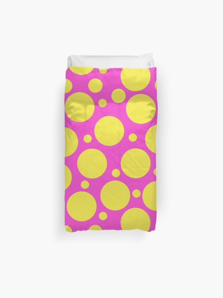 Polka Dots In Hot Pink And Yellow Duvet Cover By Whoopsidoodle Redbubble,Backyard Baby Shower Decorations Outdoor