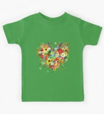 Pretty floral heart Kids Clothes