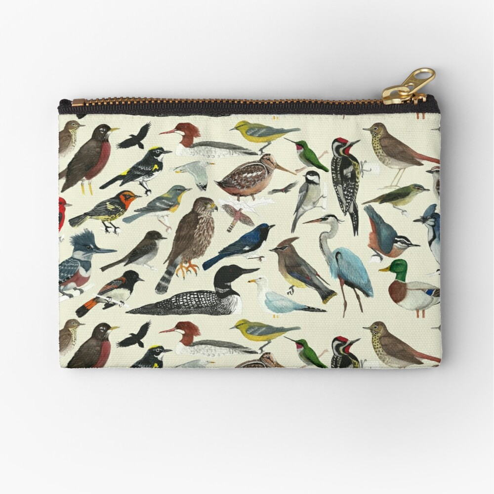 Bird Fanatic Zipper Pouch