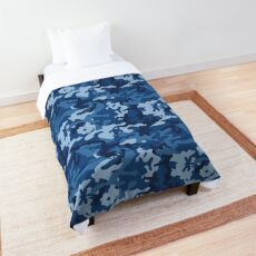 Awesome Camouflage Pattern Blue  Comforter