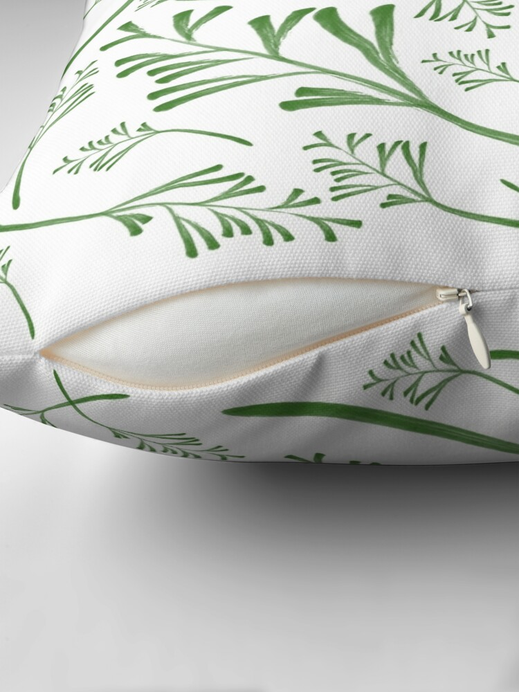 Alternate view of Leafy Greens Throw Pillow