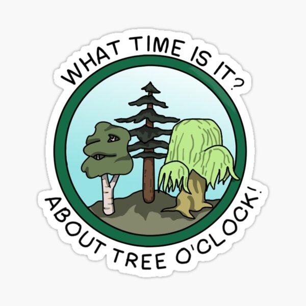 Tree O'Clock Sticker