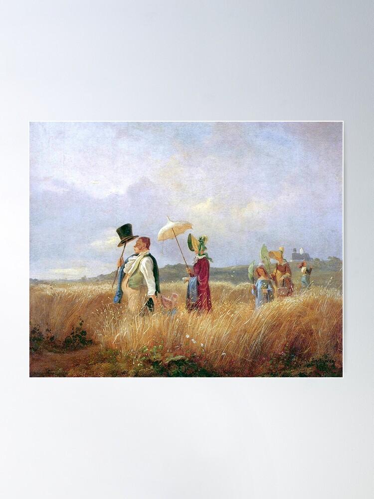 Alternate view of The Sunday Stroll, by Carl Spitzweg Poster