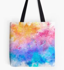 Abstract Paint Watercolor Pattern Texture #7 - Yellow, Pink, Blue Tote Bag