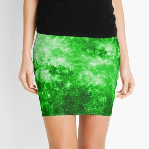 Wormhole Star Field - Green Mini Skirt